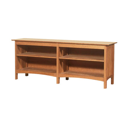 Modern Shaker Open Console Bookcase