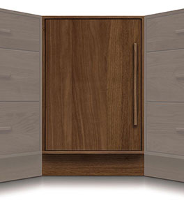 Moduluxe Corner Cabinet with 1 Door - 29