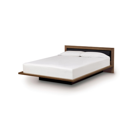 "Moduluxe Platform Bed with Upholstered Headboard - 29"" Series"