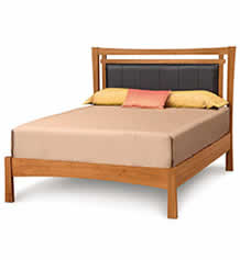 Monterey Platform Bed with Upholstered Headboard