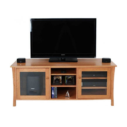 Andrews Natural Cherry Media Console 64""