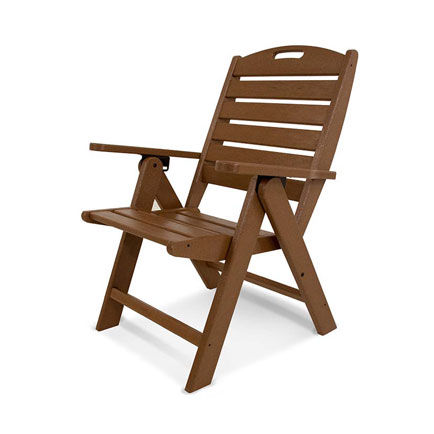 Nautical Highback Folding Dining Chair