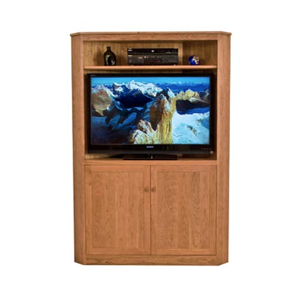 New England Shaker Corner Entertainment Center