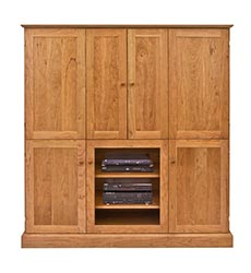 New England Shaker Large Entertainment Center - Wall Unit