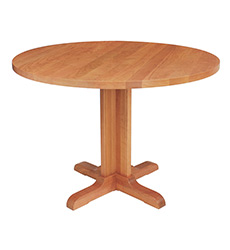 New England Shaker Round Solid Top Pedestal Table