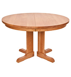 New England Shaker Round Extension Pedestal Table