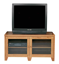 New England Shaker Big Screen TV-Console with Glass Doors