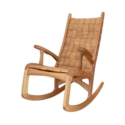 Custom Quilted Vermont Rocking Chair - Oak