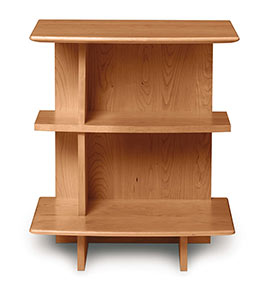 Open 3 Shelf Cherry Nightstand