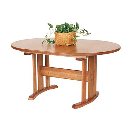 Oval Trestle Dining Table #1