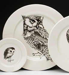 Charger Plate - Screech Owl