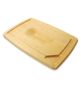 Pour-Spout Maple Wood Carving Board
