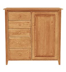 Renfrew Shaker 5-Drawer Chifforobe