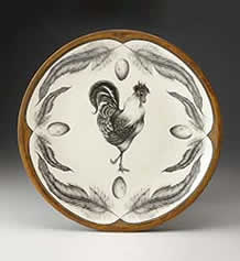 Large Round Platter - Rooster