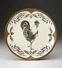 Small Round Platter - Rooster