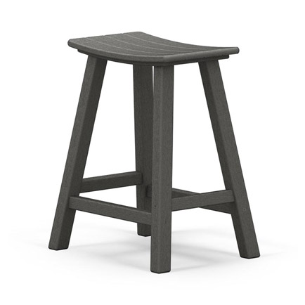Outdoor Traditional Saddle Seat Counter Stool Pair