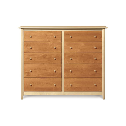 Sarah Cherry and Maple 10 Drawer Dresser
