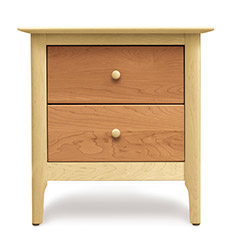 Sarah 2 Drawer Cherry & Maple Nightstand