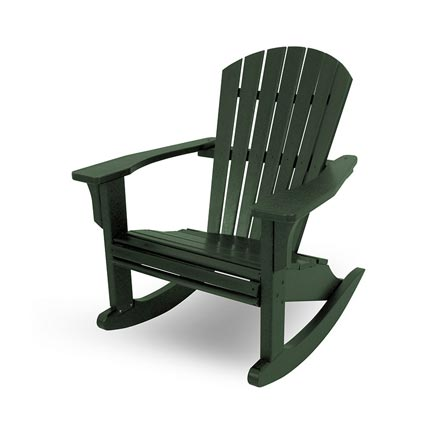 Seashell Adirondack Rocking Chairs