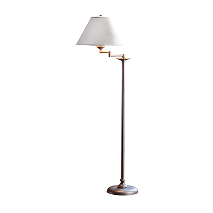 Simple Lines with Swing Arm Floor Lamp