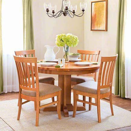Single-Leg Round Pedestal Dining Set