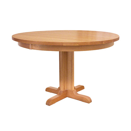 Solid wood dining tables vermont woods studios for Single leg dining table