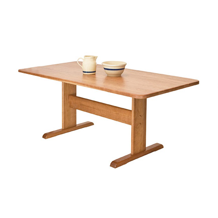 Single-Leg Trestle Table