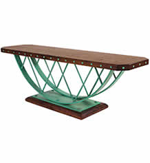Wood and Steel Bridges Bench