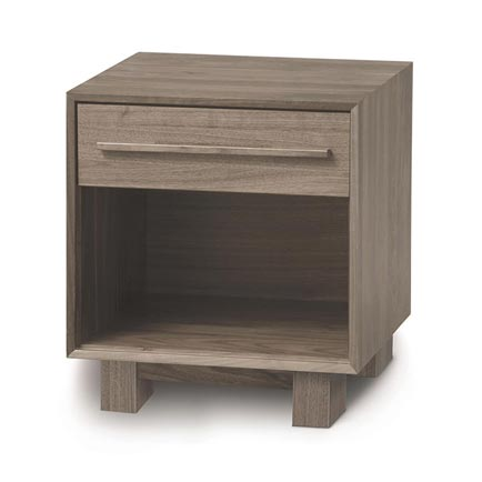 Sloane Ash 1-Drawer Enclosed Shelf Nightstand