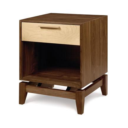 Soho 1-Drawer Enclosed Shelf Nightstand