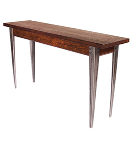 Wood and Steel Sofa Table - In Stock