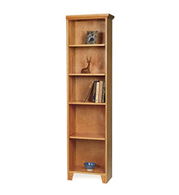 Tall Narrow Shaker Bookcase