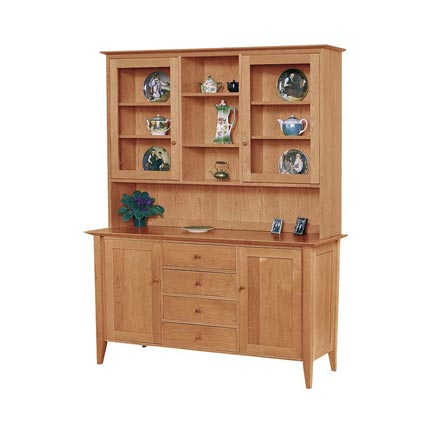 Classic Shaker Large Buffet and Hutch