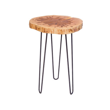 Tapped Vermont Maple Accent Table