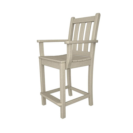 Traditional Garden Outdoor Counter Arm Chair