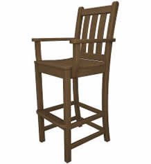 Traditional Garden Outdoor Bar Arm Chair