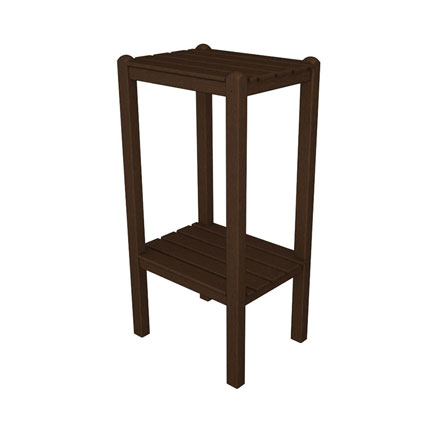 POLYWOOD 2-Shelf Bar Height End Table