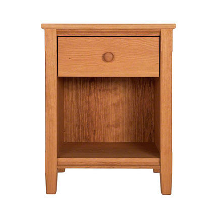 Vermont Shaker 1-Drawer Enclosed Shelf Nightstand
