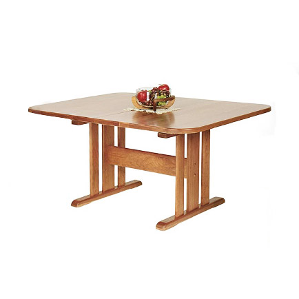 Natural Vermont Cherry Trestle Table