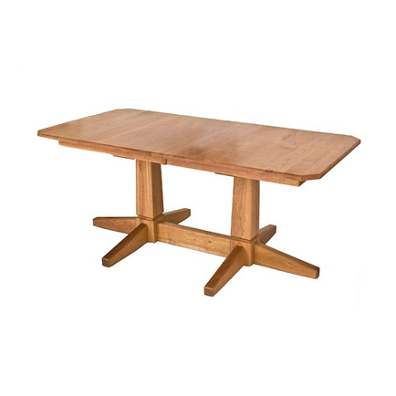 Natural Vermont Double Pedestal Table