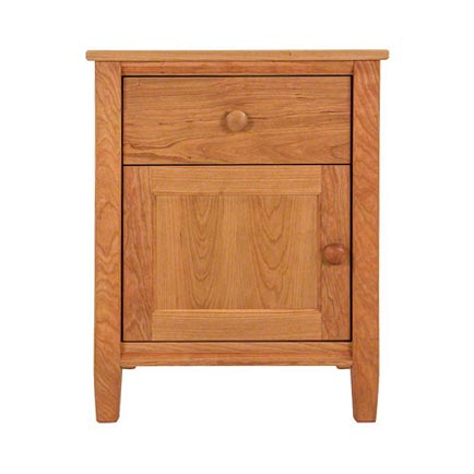 Vermont-Made Shaker 1-Drawer 1-Door Nightstand - In Stock