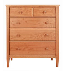 Vermont-Made Shaker 5 Drawer Chest