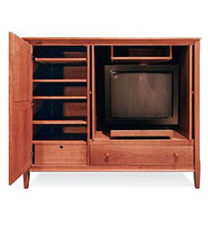 Vermont-Made Shaker Entertainment Center 61