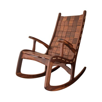 Custom Quilted Vermont Rocking Chair - Walnut