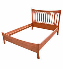 Brandon Cherry Wishbone Bed