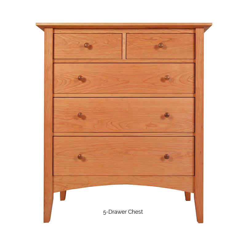 American Shaker Style Bedroom Furniture Set Solid Cherry