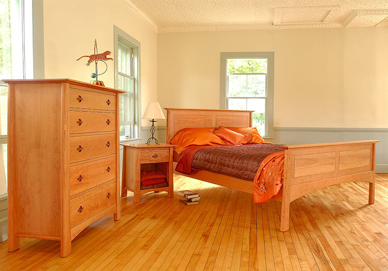 Solid Wood Bedroom Furniture Set Cherry Moon Collection Vermont