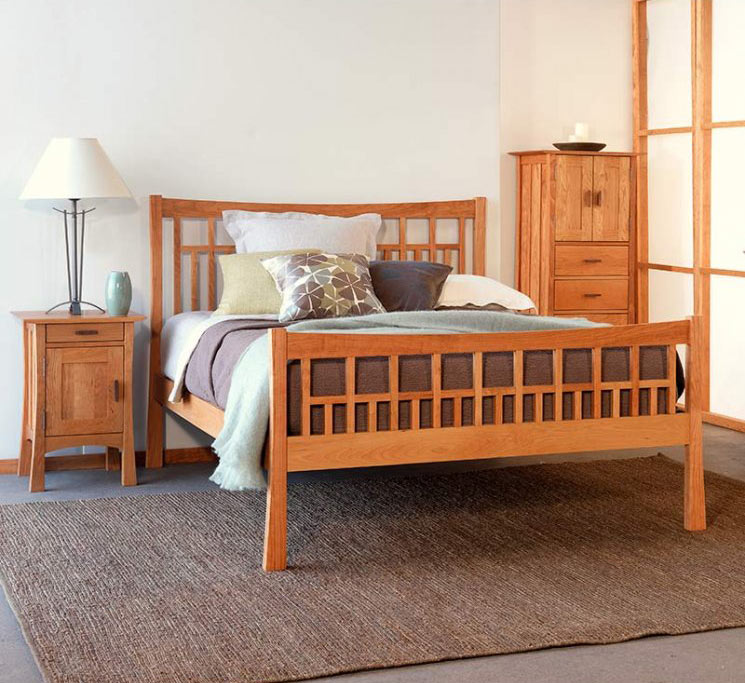 natural solid wood bedroom set vermont made craftsman