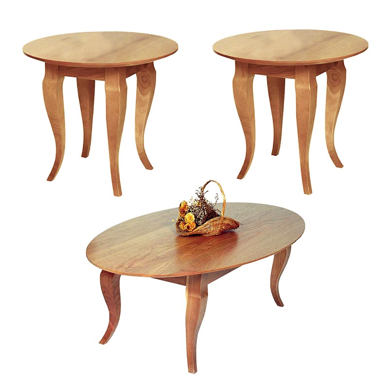 french country round living room table set