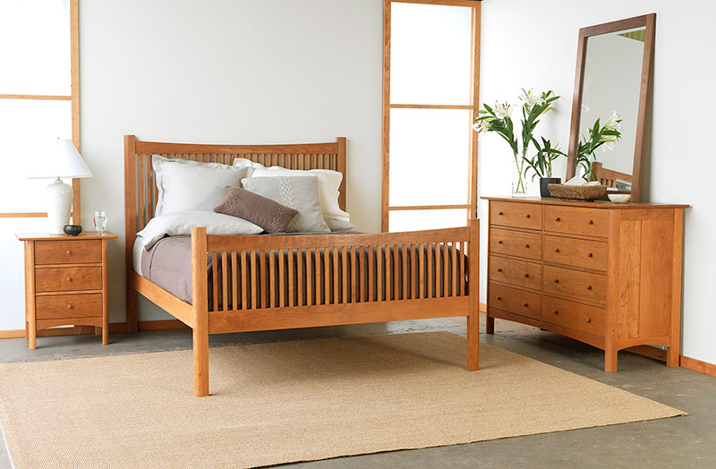 Exceptional Modern Shaker Bedroom Set American Made Solid Wood Furniture